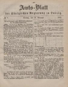Amts-Blatt der Königlichen Regierung zu Danzig, 20. Februar 1875, Nr. 8