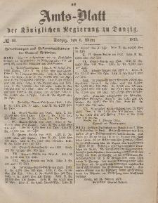 Amts-Blatt der Königlichen Regierung zu Danzig, 6. März 1875, Nr. 10