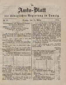 Amts-Blatt der Königlichen Regierung zu Danzig, 13. März 1875, Nr. 11