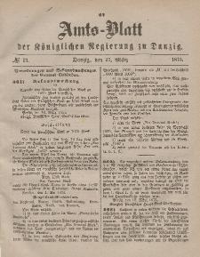 Amts-Blatt der Königlichen Regierung zu Danzig, 27. März 1875, Nr. 13