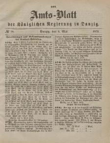 Amts-Blatt der Königlichen Regierung zu Danzig, 8. Mai 1875, Nr. 19