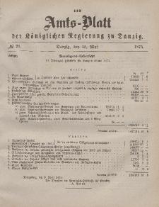Amts-Blatt der Königlichen Regierung zu Danzig, 15. Mai 1875, Nr. 20