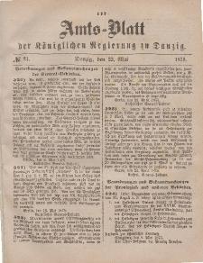 Amts-Blatt der Königlichen Regierung zu Danzig, 22. Mai 1875, Nr. 21