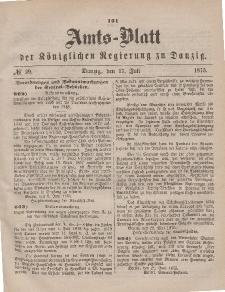 Amts-Blatt der Königlichen Regierung zu Danzig, 17. Juli 1875, Nr. 29