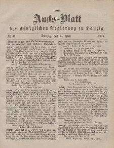 Amts-Blatt der Königlichen Regierung zu Danzig, 24. Juli 1875, Nr. 30