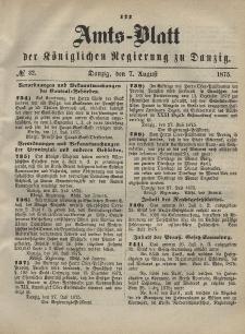 Amts-Blatt der Königlichen Regierung zu Danzig, 7. August 1875, Nr. 32