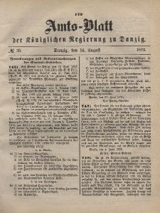 Amts-Blatt der Königlichen Regierung zu Danzig, 14. August 1875, Nr. 33
