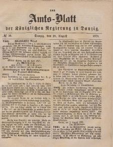 Amts-Blatt der Königlichen Regierung zu Danzig, 28. August 1875, Nr. 35