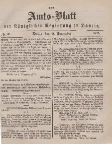 Amts-Blatt der Königlichen Regierung zu Danzig, 18. September 1875, Nr. 38