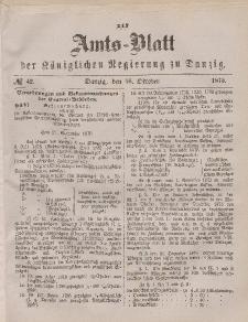 Amts-Blatt der Königlichen Regierung zu Danzig, 16. Oktober 1875, Nr. 42