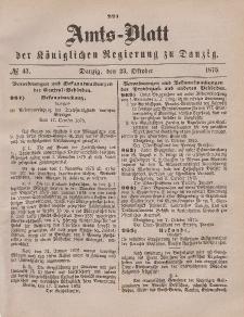Amts-Blatt der Königlichen Regierung zu Danzig, 23. Oktober 1875, Nr. 43