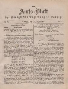 Amts-Blatt der Königlichen Regierung zu Danzig, 13. November 1875, Nr. 46