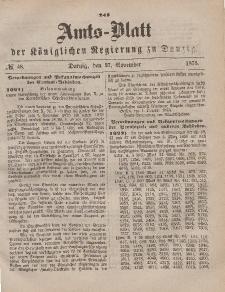 Amts-Blatt der Königlichen Regierung zu Danzig, 27. November 1875, Nr. 48