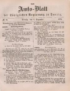 Amts-Blatt der Königlichen Regierung zu Danzig, 4. Dezember 1875, Nr. 49
