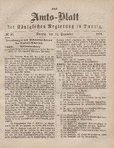 Amts-Blatt der Königlichen Regierung zu Danzig, 11. Dezember 1875, Nr. 50