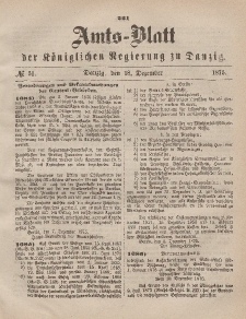 Amts-Blatt der Königlichen Regierung zu Danzig, 18. Dezember 1875, Nr. 51