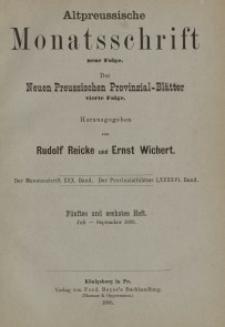 Altpreussische Monatsschrift, 1893, Juli-September, Bd. 30