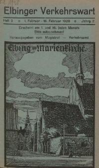Elbinger Verkehrswart, Heft 3, 1. Februar - 16. Februar 1928, 2 Jahrg.