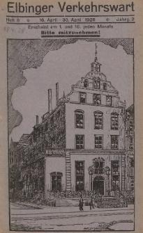 Elbinger Verkehrswart, Heft 8, 16. April - 30. April 1928, 2 Jahrg.