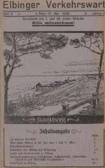 Elbinger Verkehrswart, Heft 9, 1. Mai - 15. Mai 1928, 2 Jahrg.