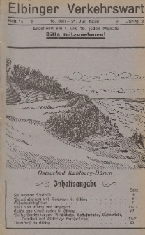 Elbinger Verkehrswart, Heft 14, 16. Juli - 31. Juli 1928, 2 Jahrg.