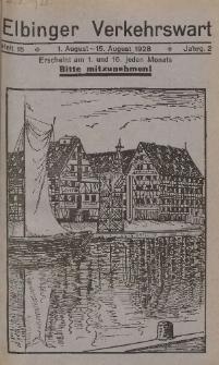 Elbinger Verkehrswart, Heft 15, 1. August - 15. August 1928, 2 Jahrg.