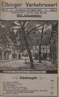 Elbinger Verkehrswart, Heft 16, 16. August - 31. August 1928, 2 Jahrg.