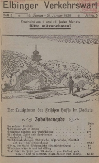 Elbinger Verkehrswart, Heft 2, 16. Januar - 31. Januar 1929, 3 Jahrg.
