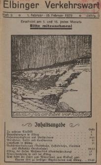 Elbinger Verkehrswart, Heft 3, 1. Februar - 15. Februar 1929, 3 Jahrg.