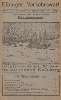 Elbinger Verkehrswart, Heft 4, 16. Februar - 28. Februar 1929, 3 Jahrg.