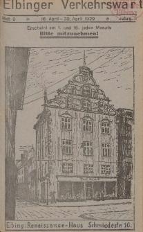 Elbinger Verkehrswart, Heft 8, 16. April - 30. April 1929, 3 Jahrg.