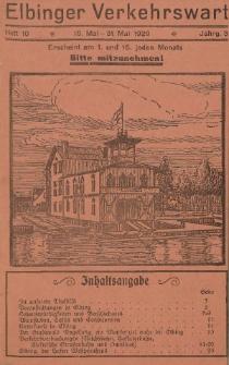 Elbinger Verkehrswart, Heft 10, 16. Mai - 31. Mai 1929, 3 Jahrg.