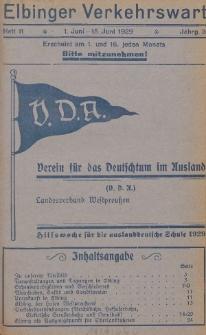 Elbinger Verkehrswart, Heft 11, 1. Juni - 15. Juni 1929, 3 Jahrg.