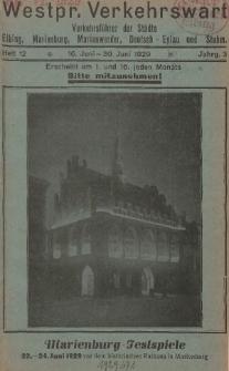 Elbinger Verkehrswart, Heft 12, 16. Juni - 30. Juni 1929, 3 Jahrg.