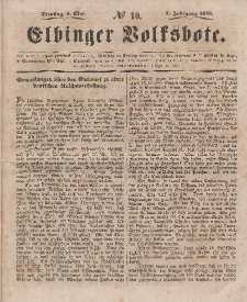 Elbinger Volksbote, Nr. 10, Dienstag 9 Mai 1848, 1 Jahrg.