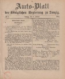 Amts-Blatt der Königlichen Regierung zu Danzig, 6. Januar 1883, Nr. 1
