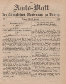 Amts-Blatt der Königlichen Regierung zu Danzig, 10. Februar 1883, Nr. 6