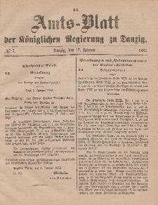 Amts-Blatt der Königlichen Regierung zu Danzig, 17. Februar 1883, Nr. 7