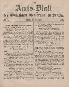 Amts-Blatt der Königlichen Regierung zu Danzig, 28. April 1883, Nr. 17