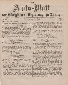 Amts-Blatt der Königlichen Regierung zu Danzig, 12. Mai 1883, Nr. 19