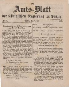 Amts-Blatt der Königlichen Regierung zu Danzig, 7. Juli 1883, Nr. 27