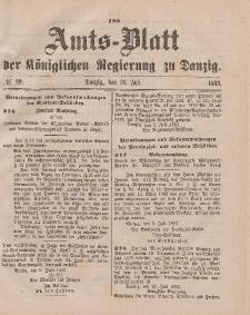 Amts-Blatt der Königlichen Regierung zu Danzig, 21. Juli 1883, Nr. 29
