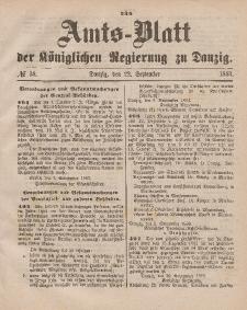 Amts-Blatt der Königlichen Regierung zu Danzig, 22. September 1883, Nr. 38