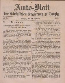 Amts-Blatt der Königlichen Regierung zu Danzig, 11. Januar 1879, Nr. 2