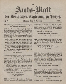 Amts-Blatt der Königlichen Regierung zu Danzig, 8. Februar 1879, Nr. 6