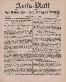 Amts-Blatt der Königlichen Regierung zu Danzig, 14. Juni 1879, Nr. 24