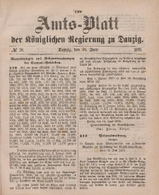 Amts-Blatt der Königlichen Regierung zu Danzig, 28. Juni 1879, Nr. 26