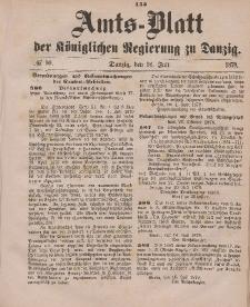 Amts-Blatt der Königlichen Regierung zu Danzig, 26. Juli 1879, Nr. 30