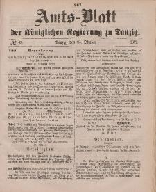 Amts-Blatt der Königlichen Regierung zu Danzig, 25. Oktober 1879, Nr. 43