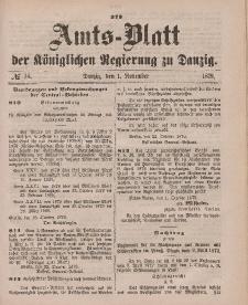 Amts-Blatt der Königlichen Regierung zu Danzig, 1. November 1879, Nr. 44